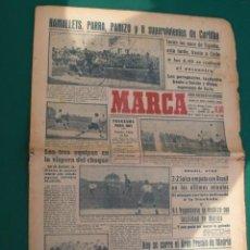 Coleccionismo deportivo: PERIODICO ANTIGUO MARCA JUNIO 1950 FUTBOL ESPAÑA CHILE. Lote 56620181