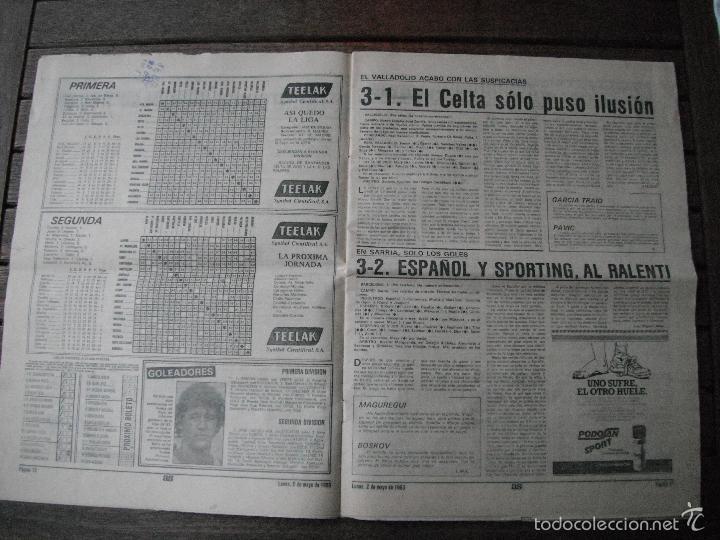 Coleccionismo deportivo: PERIÓDICO AS. ATHLETIC CAMPEÓN DE LIGA. 2-5-83 - Foto 2 - 56673102