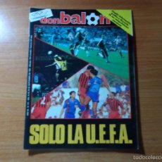 Collectionnisme sportif: DON BALON 571 COLOR UEFA ATLETICO MADRID VS WERDER BREMEN ATHLETIC VS MAGDEBURGO BARCELONA VS VLORA. Lote 56687735