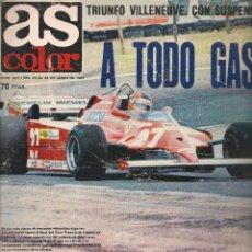 Coleccionismo deportivo: AS COLOR. Nº 527. 23 AL 30 JUNIO 1981. POSTER CENTRAL: F.C. BARCELONA. CAMPEÓN COPA REY 1981 (B/A60). Lote 56707001
