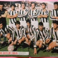 Coleccionismo deportivo: REVISTA AS COLOR Nº 525 POSTER CD CASTELLON 80/81-DEL BOSQUE-CEDRUN-GARCIA ARANGO-1980/1981. Lote 56733131