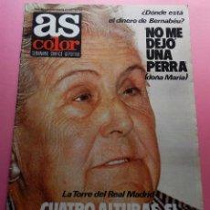 Colecionismo desportivo: REVISTA AS COLOR Nº 382 1978 POSTER IRIBAR-RICARDO ZAMORA-RAYO VALLECANO-SANTIAGO BERNABEU. Lote 56898035