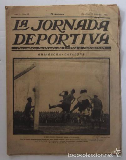 LA JORNADA DEPORTIVA - AÑO 1922 - EL ENCUENTRO GUIPUZCOA - CATALUÑA (Coleccionismo Deportivo - Revistas y Periódicos - La Jornada Deportiva)