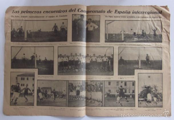 Coleccionismo deportivo: LA JORNADA DEPORTIVA - AÑO 1922 - EL ENCUENTRO GUIPUZCOA - CATALUÑA - Foto 2 - 56903528