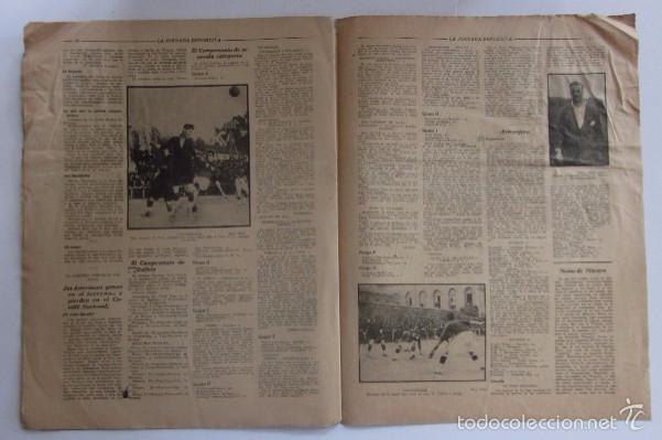 Coleccionismo deportivo: LA JORNADA DEPORTIVA - AÑO 1922 - EL ENCUENTRO GUIPUZCOA - CATALUÑA - Foto 4 - 56903528