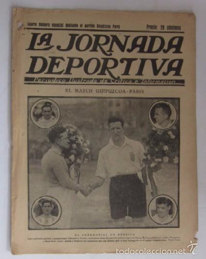 LA JORNADA DEPORTIVA - AÑO 1922 - NUMERO ESPECIAL DEDICADO AL PARTIDO GUIPUZCOA-CATALUÑA (Coleccionismo Deportivo - Revistas y Periódicos - La Jornada Deportiva)
