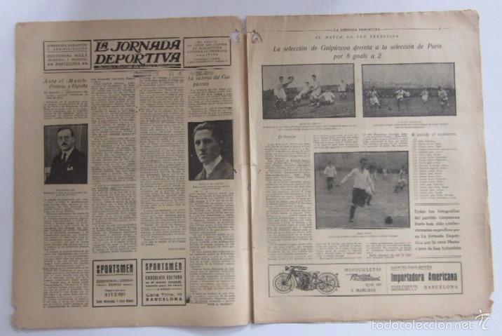Coleccionismo deportivo: LA JORNADA DEPORTIVA - AÑO 1922 - NUMERO ESPECIAL DEDICADO AL PARTIDO GUIPUZCOA-CATALUÑA - Foto 2 - 56908666