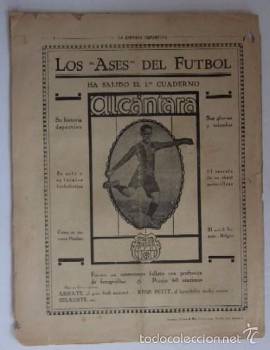 Coleccionismo deportivo: LA JORNADA DEPORTIVA - AÑO 1922 - NUMERO ESPECIAL DEDICADO AL PARTIDO GUIPUZCOA-CATALUÑA - Foto 5 - 56908666
