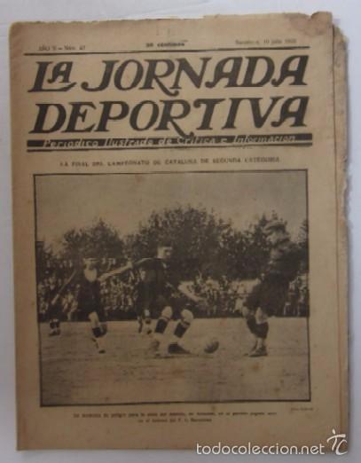 LA JORNADA DEPORTIVA - AÑO 1922 - EL PARTIDO ATHLETIC SABADELL-F.C. BARCELONA, FINAL DEL CAMPEONATO (Coleccionismo Deportivo - Revistas y Periódicos - La Jornada Deportiva)