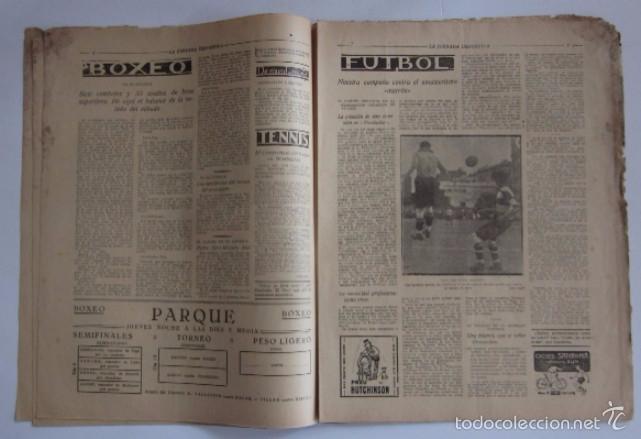 Coleccionismo deportivo: LA JORNADA DEPORTIVA - AÑO 1922 - EL PARTIDO ATHLETIC SABADELL-F.C. BARCELONA, FINAL DEL CAMPEONATO - Foto 2 - 56910771
