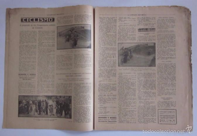 Coleccionismo deportivo: LA JORNADA DEPORTIVA - AÑO 1922 - EL PARTIDO ATHLETIC SABADELL-F.C. BARCELONA, FINAL DEL CAMPEONATO - Foto 3 - 56910771