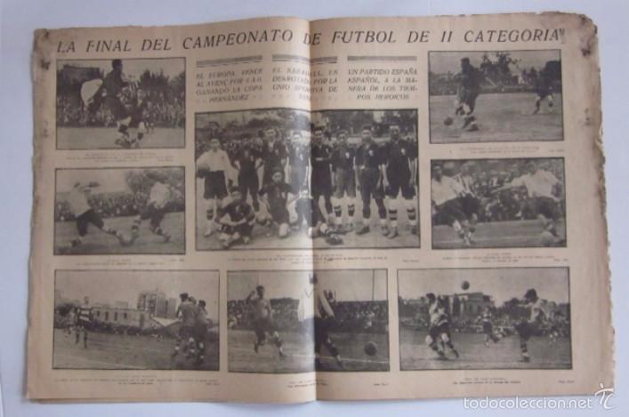 Coleccionismo deportivo: LA JORNADA DEPORTIVA - AÑO 1922 - EL PARTIDO ATHLETIC SABADELL-F.C. BARCELONA, FINAL DEL CAMPEONATO - Foto 4 - 56910771