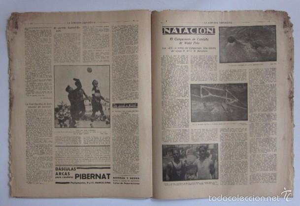 Coleccionismo deportivo: LA JORNADA DEPORTIVA - AÑO 1922 - EL PARTIDO ATHLETIC SABADELL-F.C. BARCELONA, FINAL DEL CAMPEONATO - Foto 5 - 56910771