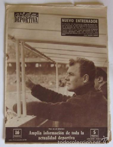 VIDA DEPORTIVA - AÑO 1961 - BARCELONA-ELCHE CON DEBUT DE KUBALA COMO ENTRENADOR (Coleccionismo Deportivo - Revistas y Periódicos - Vida Deportiva)
