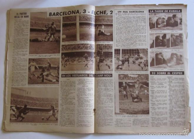 Coleccionismo deportivo: VIDA DEPORTIVA - AÑO 1961 - BARCELONA-ELCHE CON DEBUT DE KUBALA COMO ENTRENADOR - Foto 2 - 56911295