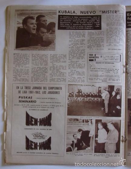 Coleccionismo deportivo: VIDA DEPORTIVA - AÑO 1961 - BARCELONA-ELCHE CON DEBUT DE KUBALA COMO ENTRENADOR - Foto 3 - 56911295