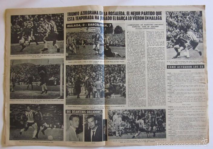 Coleccionismo deportivo: VIDA DEPORTIVA - AÑO 1963 - LA GOLEADA DEL BARCELONA POR 7 A O AL MALAGA - Foto 2 - 56911468