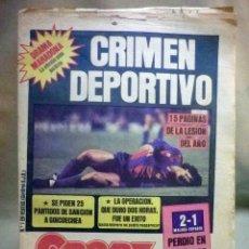 Coleccionismo deportivo: REVISTA, DEPORTIVA, SPORT, Nº 1386, CRIMEN DEPORTIVO, LESION DE MARADONA, BARCELONA. Lote 57009452