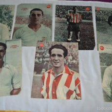 Coleccionismo deportivo: 7 POSTERS DE MARCA DE 1940S - Y OTROS 4 DE REGALO - ASENSI, IRIONDO, MEDRANO, MARTIN, BUSTOS, ARZA. Lote 57094140