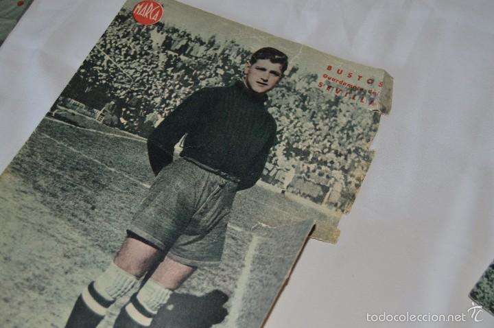 Coleccionismo deportivo: 7 Posters de MARCA de 1940s - y otros 4 de regalo - Asensi, Iriondo, Medrano, Martin, Bustos, Arza - Foto 4 - 57094140