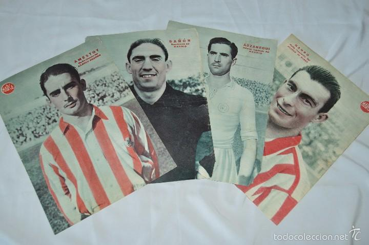 Coleccionismo deportivo: 7 Posters de MARCA de 1940s - y otros 4 de regalo - Asensi, Iriondo, Medrano, Martin, Bustos, Arza - Foto 10 - 57094140