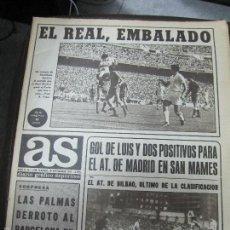 Coleccionismo deportivo: REVISTA DEPORTIVA AS. N 1180 AÑO 1971. EL REAL MADRID EMBALADO. LEER. Lote 57206086