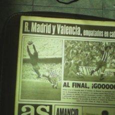 Collectionnisme sportif: REVISTA DEPORTIVA AS.N1198.OCTUBRE 1971. R. MADRID Y VALENCIA EMPATADOS. LEER. Lote 57223794