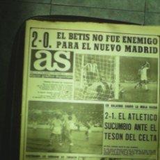Coleccionismo deportivo: REVISTA DEPORTIVA AS. N 1168 AÑO 1971. PRIMERA VICTORIA EN CHAMARTIN. LEER. Lote 57223886