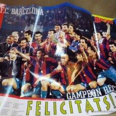 Coleccionismo deportivo: POSTER, REVISTA SPORT, BARCELONA CAMPEON, RECOPA, 96 - 97, 80 X 60 CM. Lote 57252173
