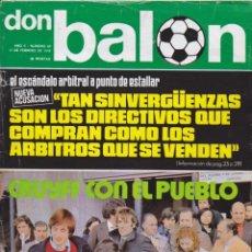 Coleccionismo deportivo: REVISTA DEPORTIVA DON BALON Nº 20. Lote 57298345
