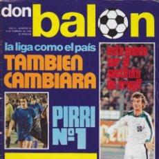 Coleccionismo deportivo: REVISTA DEPORTIVA DON BALON Nº 23. Lote 57298363