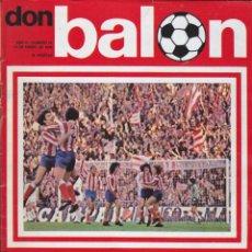 Coleccionismo deportivo: REVISTA DEPORTIVA DON BALON Nº 15. Lote 57298378
