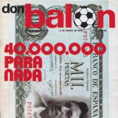 Coleccionismo deportivo: REVISTA DEPORTIVA DON BALON Nº 14. Lote 57298455