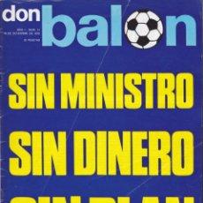 Coleccionismo deportivo: REVISTA DEPORTIVA DON BALON Nº 11. Lote 57298473
