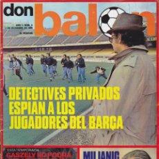 Coleccionismo deportivo: REVISTA DEPORTIVA DON BALON Nº 9. Lote 57298482