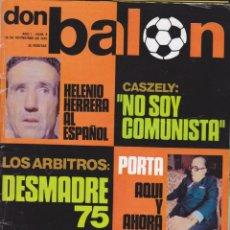 Coleccionismo deportivo: REVISTA DEPORTIVA DON BALON Nº 8. Lote 57298490