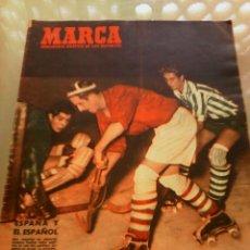 Coleccionismo deportivo: REVISTA DEPORTIVA MARCA NUM. 470 4 DE DICIEMBRE DE 1951. HOCKEY SOBRE PATINES. LEER. . Lote 57303338