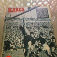 Coleccionismo deportivo: REVISTA DEPORTIVA MARCA NUM. 523 9 DE DICIEMBRE DE 1952. ARGENTINA VENCE ANTE ESPAÑA. LEER . Lote 57304363