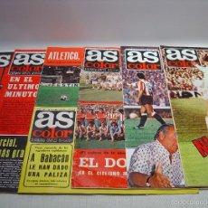 Coleccionismo deportivo: REVISTA AS COLOR -LOTE DE SEIS REVISTAS ANTIGUAS. Lote 57315328