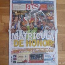 Coleccionismo deportivo: DIARIO AS.CHAMPIONS LEAGUE 2014.R MADRID 4-ATLETICO DE MADRID 1.NUEVO.. Lote 57324669