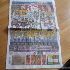 Coleccionismo deportivo: DIARIO AS.CHAMPIONS LEAGUE 2016.R MADRID 1-ATLETICO DE MADRID 1(5-3).NUEVO.. Lote 57324720