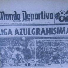 Coleccionismo deportivo: MUNDO DEPORTIVO ESPAÑA 82 15 FEBRERO 1982 REAL MADRID ESPAÑOL REAL SOCIEDAD. Lote 57342629