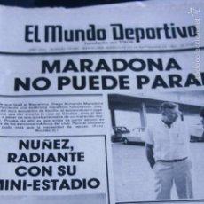 Coleccionismo deportivo: MUNDO DEPORTIVO 22 SEPTIEMBRE 1982 MARADONA PICHI ALONSO ESPAÑOL. Lote 57343055