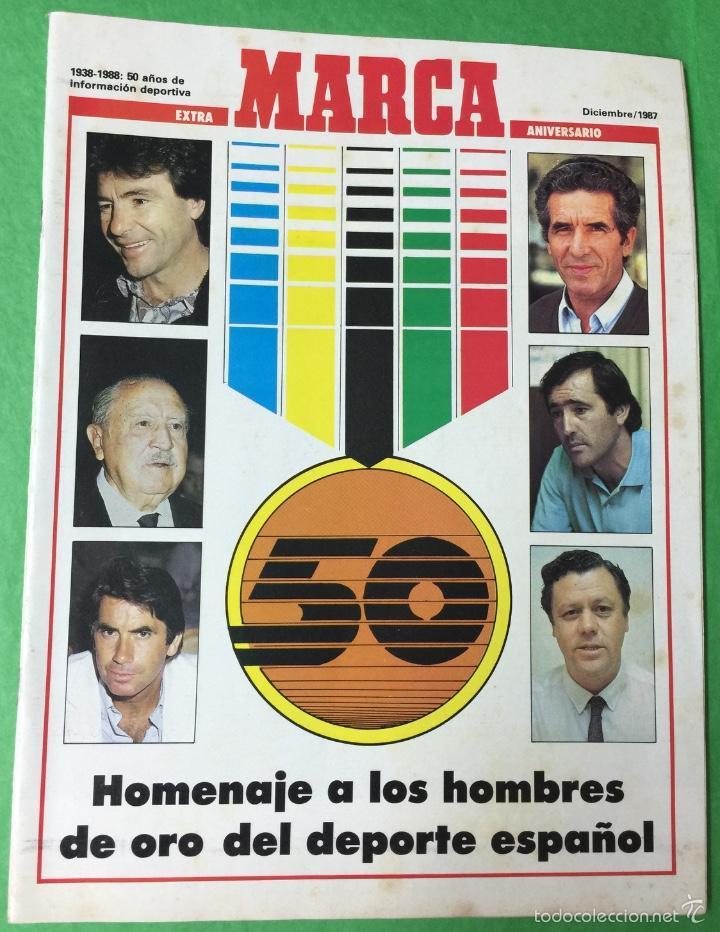 REVISTA MARCA - EXTRA 50 ANIVERSARIO -HOMENAJE A LOS HOMBRES DE ORO DEL DEPORTE ESPAÑOL - AÑO 1987 (Coleccionismo Deportivo - Revistas y Periódicos - Marca)