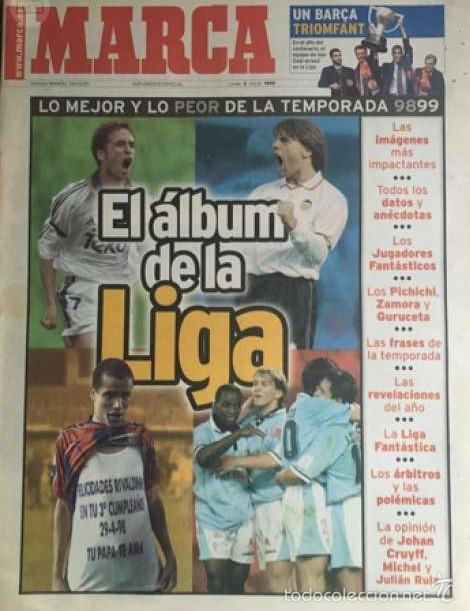 EL ÁLBUM DE LA LIGA MARCA 98 99 (Coleccionismo Deportivo - Revistas y Periódicos - Marca)