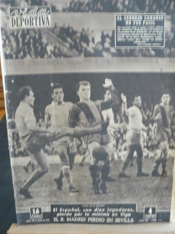 PERIODICO VIDA DEPORTIVA - EL CERROJO CANARIO NO FUE FACIL - 1958 (Coleccionismo Deportivo - Revistas y Periódicos - Vida Deportiva)