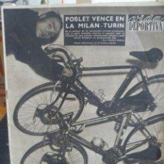 Coleccionismo deportivo: VIDA DEPORTIVA - POBLET VENCE EN LA MILAN - TURIN - 1957. Lote 57451319
