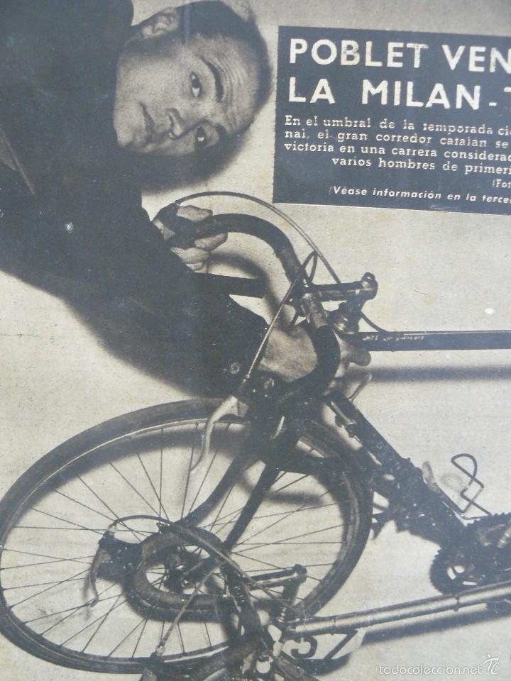 Coleccionismo deportivo: VIDA DEPORTIVA - POBLET VENCE EN LA MILAN - TURIN - 1957 - Foto 2 - 57451319