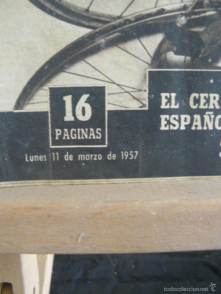 Coleccionismo deportivo: VIDA DEPORTIVA - POBLET VENCE EN LA MILAN - TURIN - 1957 - Foto 4 - 57451319