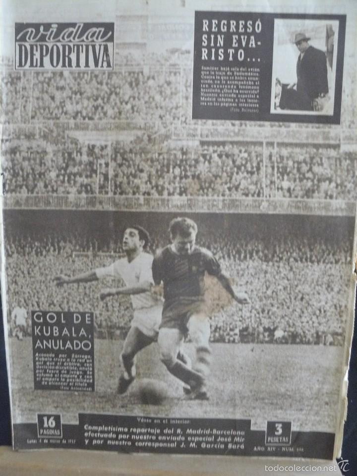 VIDA DEPORTIVA - GOL DE KUBALA ANULADO - 1957 (Coleccionismo Deportivo - Revistas y Periódicos - Vida Deportiva)